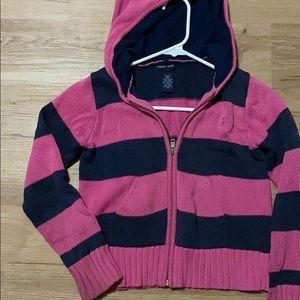Ralph Lauren striped knit zipper sweat shirt